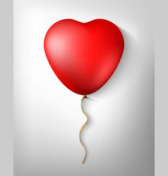 balloon in the form of heart isolated in a vector image