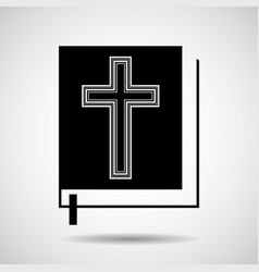 bible icon isolated on white background religion vector image vector image
