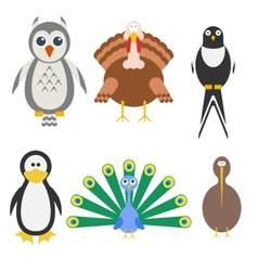 Birds icon set vector image vector image