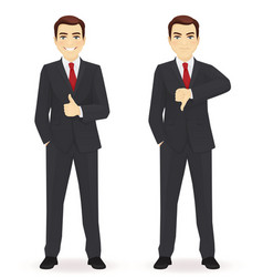 Businessman showing thumbs vector
