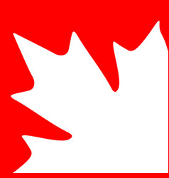 Card maple leaf vector