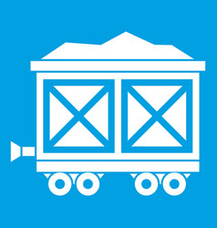 Cart on wheels with gold icon white vector