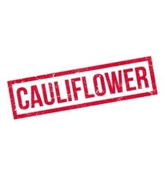 Cauliflower rubber stamp vector