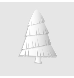 christmas tree paper vector image vector image