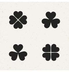 Clover Icon Set vector image vector image