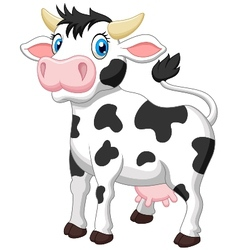 Cute cow cartoon vector