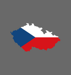 czech republic flag and map vector image