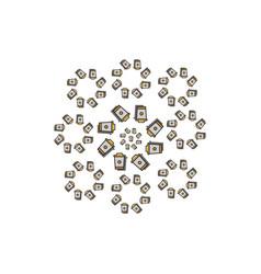 decorative-floral-cup-coffee vector image vector image