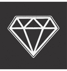 Diamond hand drawn old school tattoo vector