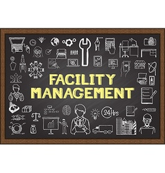 Facility management vector image