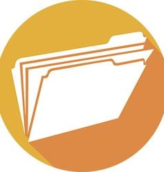 Folder Icon vector image vector image