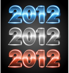 happy new year 2012 message set vector image vector image