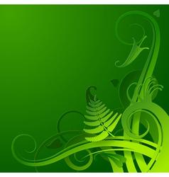 Herbal background vector image vector image