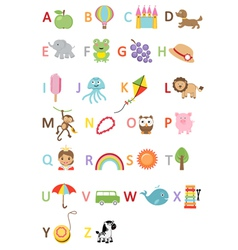 Kids alphabet vector image
