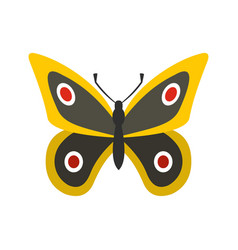 Little butterfly icon flat style vector