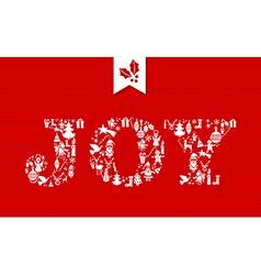 Merry christmas joy concept icons vector