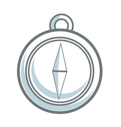 Navigation compass icon destination travel vector