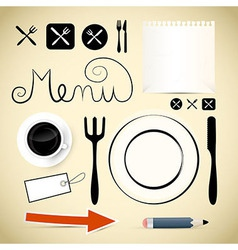 Restaurant Menu Design Elements vector image vector image