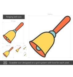 Ringing bell line icon vector