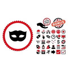 Privacy mask flat icon with bonus vector