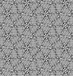 Black marker hatched hexagons in row vector
