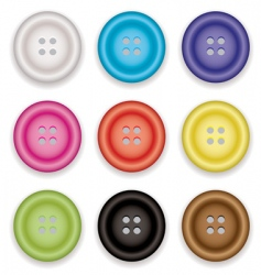 Clothes buttons icons vector
