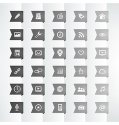 Social icon flag bookmark vector