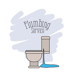 Scene of side view sanitary dripping plumbing vector