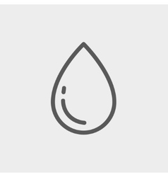 Water drop thin line icon vector
