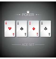 Casino with playing poker cards vector