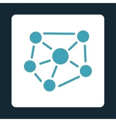 Social graph icon vector