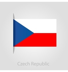 Czech republic flag vector