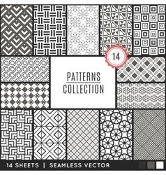 Elegant seamless patterns vector