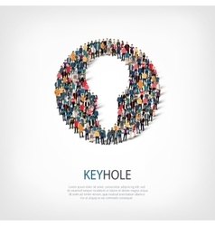 Keyhole people sign vector