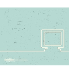 Creative monitor art template vector