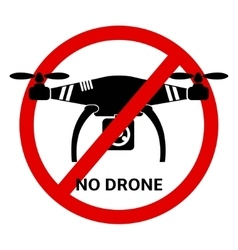 No drone icon vector
