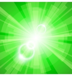 Green light background vector