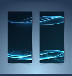 Bright blue fusion futuristic line banner vector