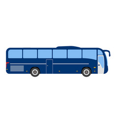 bus flat icon and logo cartoon vector image