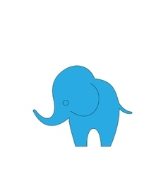 Cartoon elephant isolated on white background vector