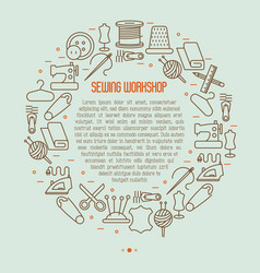 concept for sewing workshop vector image