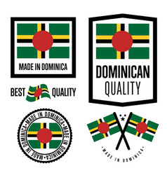 dominica quality label set for goods vector image vector image