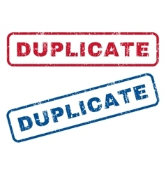 Duplicate rubber stamps vector
