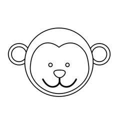 Figure face monkey icon vector