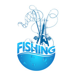 Fishing design silhouette vector