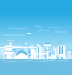 Futuristic white city vector