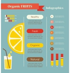 Lemon and organic infographics vector image vector image