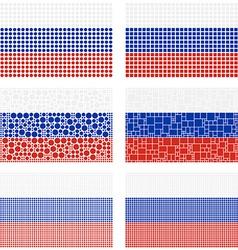 Mosaic Russia flag set vector image vector image