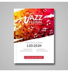 Musical flyer jazz festival music vector