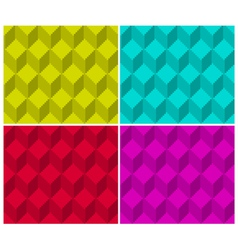 Pixelated cubic seamless background pattern vector image